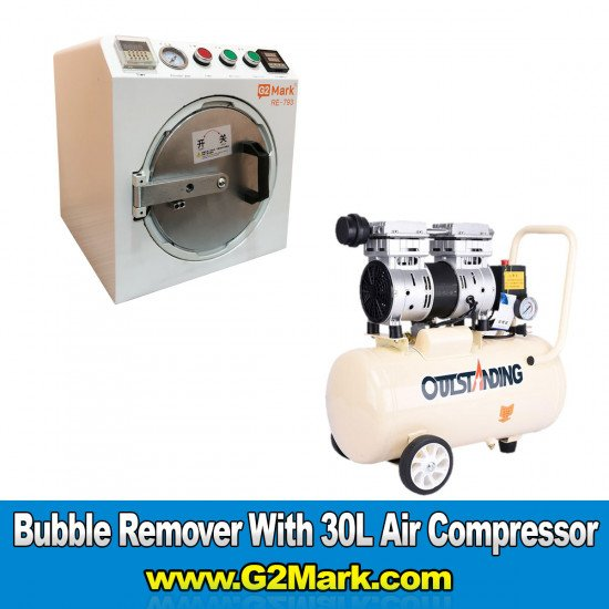 RE-793 Bubble Remover Machine ( Medium Size 12 Inch Supported ) With 30L Air Compressor