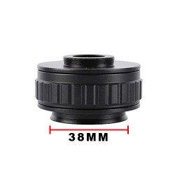 0.5X C-Mount Lens 0.5X CTV Adapter For Trinocular Microscope Camera (38 MM )