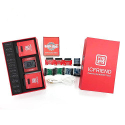 Easy JTAG Plus Red Box With ICFriend EMMC BGA 13-In-1