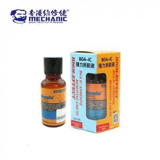 Mechanic Pasted BGA IC Epoxy Black Glue Remover Liquid QC-20 ( 20ML )
