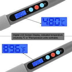 LCD Digital Adjustable Temperature Soldering Iron ( 90 W )