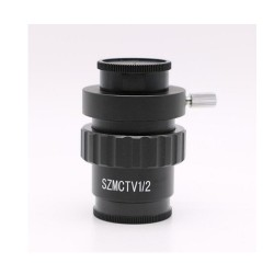 0.5X C-mount Lens 1/2 CTV Adapter For Trinocular Stereo Zoom Microscope Camera