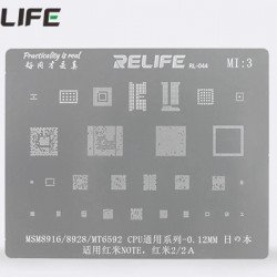 0.12MM Stencils Plates For MSM8916 / MSM8928 / MT6592 CPU ( MI3 )
