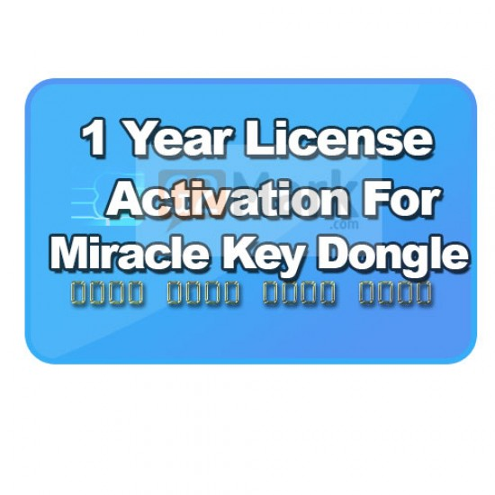License Activation For Miracle Key / Thunder ( 1 Year )