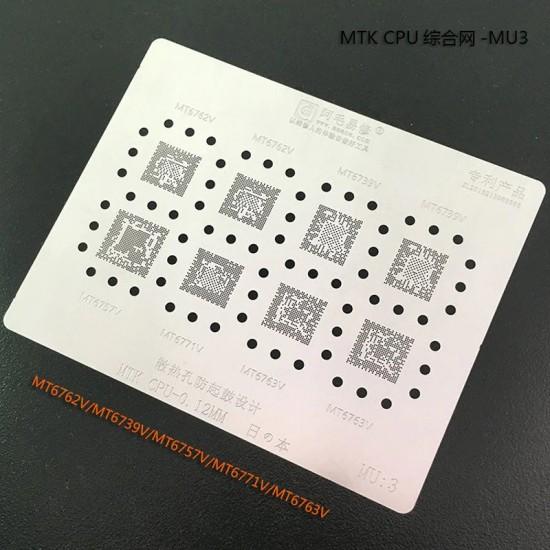 0.12MM Stencils Plates For MTK CPU (MU3)