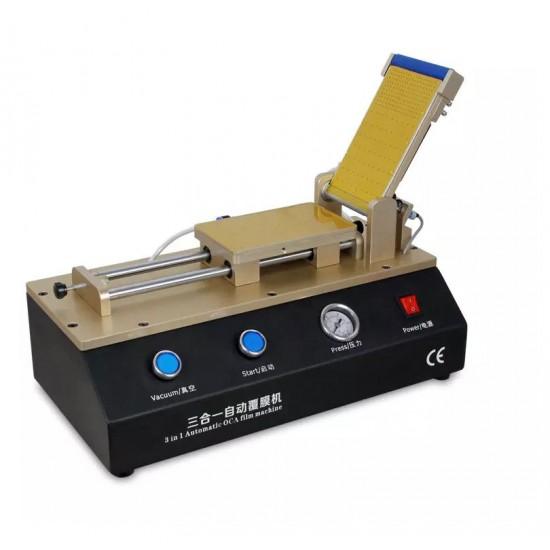 Aida 3 In 1 Automatic Flat Touch Screen Film OCA Pasting Machine Built-In Vacuum Pump