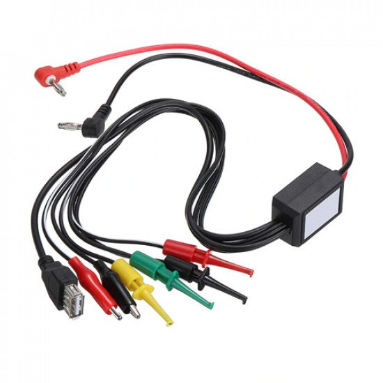 Power Supply Test Lead Cable Kit with 2 Alligator Clip 2 Banana Plug 4 Hook Clip