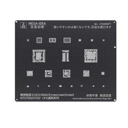 Qianli 0.12MM Black Stencil MT6750V/MT6755V CPU for MEIZU & Noblue 3/3s/5/3MAX/E/note/note/note3/note5 ( BZ 11 )