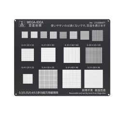 Qianli 0.12MM Black Stencil Universal 0.3/0.35/0.4/0.5 Multifunctional Reballing Stencils ( BZ  26 )