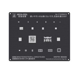 Qianli 0.12MM Black Stencil Qualcomm Snapdragon 636/660 CPU for Redmi NOTE5/NOTE5PRO,MI NOTE 3/6X ( QL 14 )