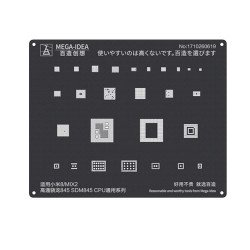Qianli 0.12MM Black Stencil Qualcomm Snapdragon SDM845 CPU for XIAOMI 8/MIX2 ( QL 17 )