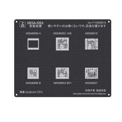 Qianli 0.12MM Black Stencil Qualcomm CPU MSM8998 A B MSM8953 1AB B01 MSM8916 MSM8937 ( QL 22 )
