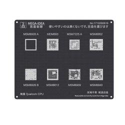 Qianli 0.12MM Black Stencil Qualcomm CPU MSM8928 A B MSM660 MSM8612 MSM7225A MSM8909 MSM8952 MSM8940 ( QL 23 )