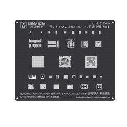 Qianli 0.12MM Black Stencil MT6771/6763/SDM660 for OPPO A3/A1/A73/A79/A83/R11/R15 VIVO X20/X20i/Y75 ( QL 05 )