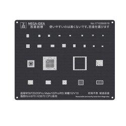 Qianli 0.12MM Black Stencil Kirin 970 HI3670 CPU for HUAWEI P20/20Pro Mate10/Pro/RS HONOR 10/V10 ( QL 06 )