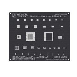 Qianli 0.12MM Black Stencil Kirin 960 HI3660 CPU for HUAWEI P10/10P,Mate9/9Pro nova 2S,HONOR 9/V9 ( QL 07 )