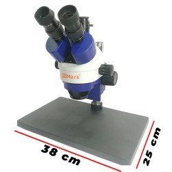G2Mark RE-106 7X-45X Trinocular Stereo Microscope With Camera Option With LED Adjustable Light With Big Base
