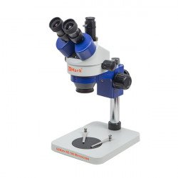 G2Mark RE-106 7X-45X Trinocular Stereo Microscope With Camera Option With LED Adjustable Light Exclusive Quality - Blue Color