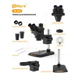 G2Mark RE-50X 7X~50X Trinocular Stereo Microscope With 38MP Full HD Camera & LED Adjustable Light Exclusive Quality