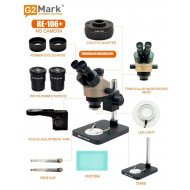 G2Mark RE-106+ 7X-45X Trinocular Stereo Microscope With CTV 0.5X Lens & LED Adjustable Light Exclusive Quality