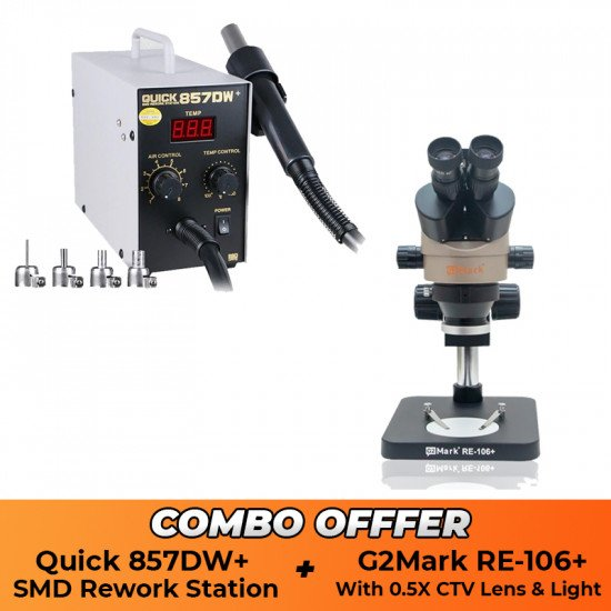 Microscope RE106+ With Quick 857DW+ SMD - Combo Offer