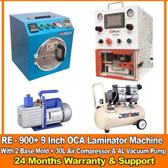 G2Mark RE-900+ EDGE / FLAT Screen OCA Machine Full Set With 2 Free Base Mold