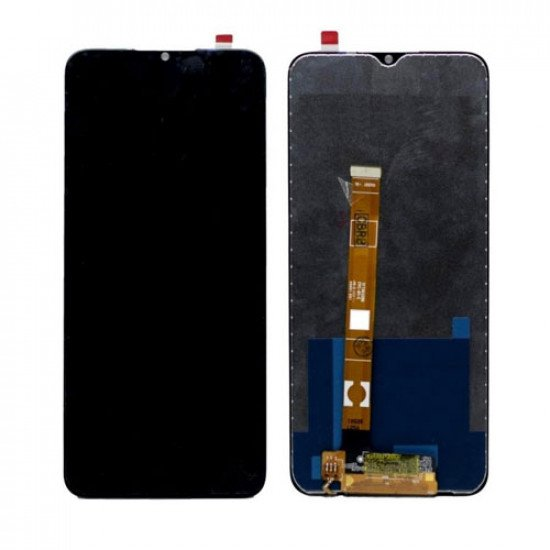 LCD with Touch Screen for Realme C12 - Black