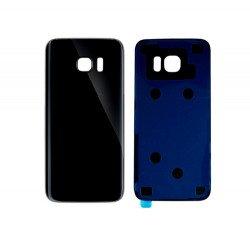 Back Panel Cover For Samsung S7 Edge - Black