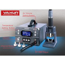 YAXUN YX-891 Professional Lead-Free Hot Air Gun Soldering Station Intelligent Digital Display 1000W High Power Rework Station