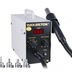 QUICK 857DW+ Lead Free Adjustable Hot Air Heat Gun With Helical Wind 580W SMD Rework Station