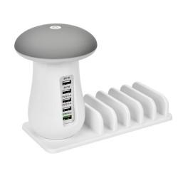 Sunshine SS-307 Mushroom Led Light 3.0 Technology 5 Port Usb Quick Charger