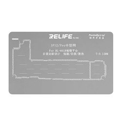 0.12MM Middle Layer Stencil Plate For iPhone 12 / 12 Pro