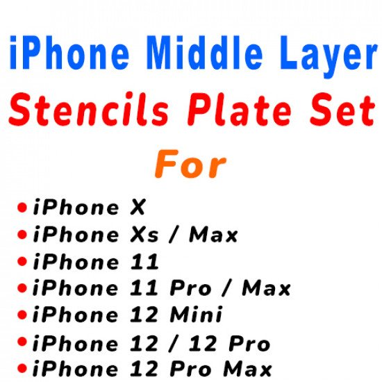 0.12MM Middle Layer Stencils Set For iPhone (  7 Pcs )