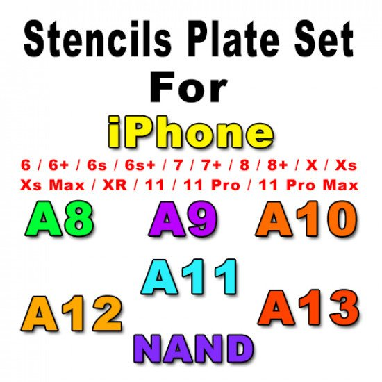0.12MM Relife Stencils Set For iPhone - 7 Pcs