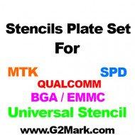0.12MM RELIFE Stencils Set ( MTK / SPD / QUALCOM / BGA eMMC) - 18 Pcs