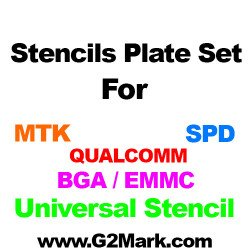15Pcs 0.12MM RELIFE Stencils Set ( MTK / SPD / QUALCOM / BGA eMMC)