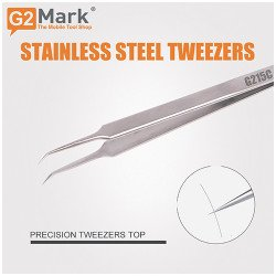 Tweezer By G2Mark G215C - Premium Quality Stainless Steel ( Bent )
